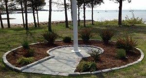 ... Landscaping_Art Stonework Masonry Construction Flag Pole Stone Area ...
