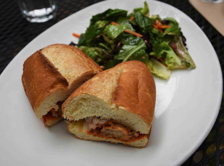 The Arlequin meatball sandwich is perfect for enjoying on the cafe's garden patio