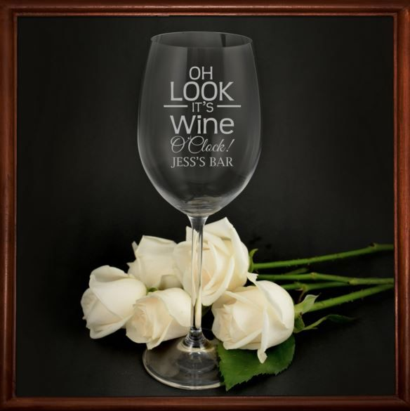 It doesn't matter if the glass is half empty or full. There's clearly more room for wine! Sip away on your favourite drop in our engraved 360ml wine glass. Our European glasses are professionally laser engraved with your design of choice.  This glass is the ideal gift for any wine lover and would fit perfectly wine cabinet.