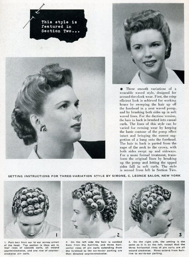 Fashionable Forties Hair Styling How To Of The 1940 S Hairdo Vintage Everyday Retro Hairstyles 1940s Hairstyles Vintage Hairstyles Tutorial