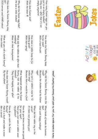 Easter jokes booklet