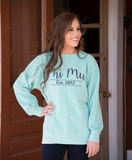 Phi Mu Comfort Color Sweatshirt