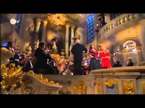 "Anja Harteros German lyric pushed (Spinto) soprano (Gretel) & Elīna Garanča,)Latvian- lyric mezzo-soprano (Hänsel )Hänsel & Gretel Duet Aria Abendsegen' /( Prayer of the Evening ) Hänsel und Gretel (Hansel and Gretel Opera By Engelbert Humperdinck -From frauenkirche & Staatskapelle Dresden ( Dresden Staatskapelle) dresden Germany At 2008 Christoph Eschenbach german director orchestra -Argument: Before Hänsel and Gretel lie down, they recite the Abendsegen "" prayer of the evening""."