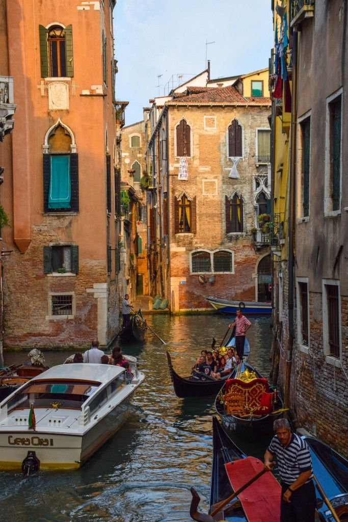 The back canals of Venice, Italy
