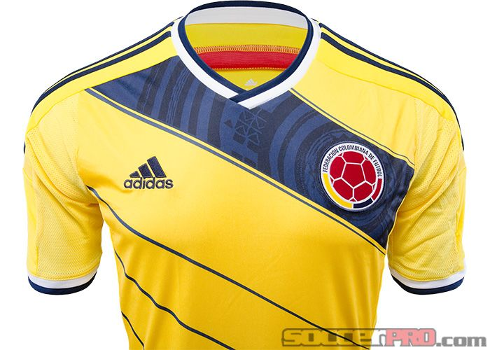 2014 adidas Colombia World Cup Home Jersey...free shipping...$80.99