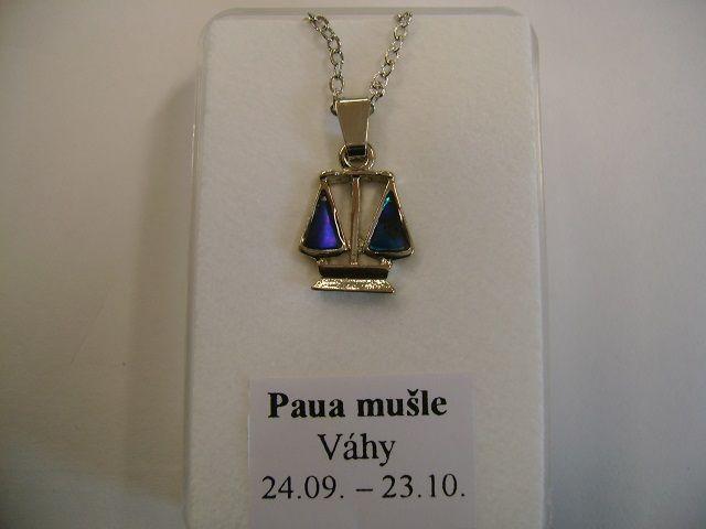 VÁHY - znamení zvěrokruhu s perletí Paua