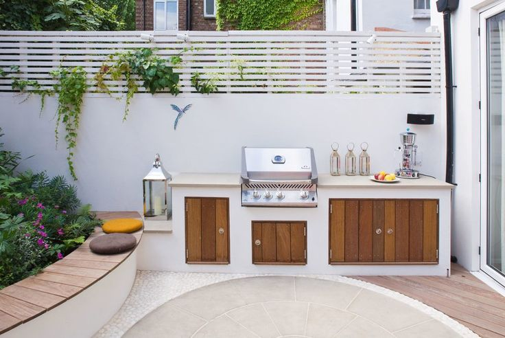 Built in bbq patio contemporary with garden lantern built in patio bench built in patio bench