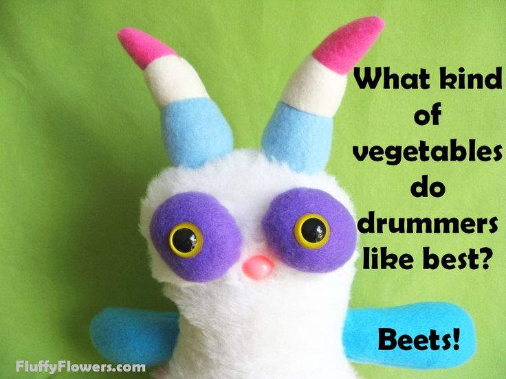cute & clean vegetables & drumming kids joke for children featuring an adorable monster :)