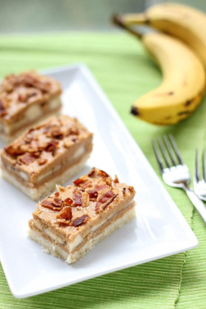 Elvis Presley Bars (Peanut Butter Banana Bacon Bars – with a vegetarian variation!)