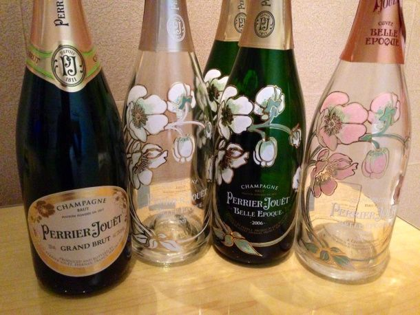 Don t you think perrier jou t has the most beautiful for Most beautiful wine bottles