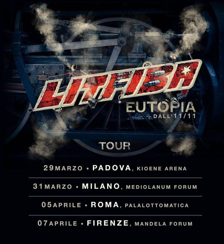 """Il titolo del nuovo album è """"Eutòpia"""", fuori l'11/11.  E nel 2017 si torna in tour: 29/3 PADOVA Kioene Arena 31/3 MILANO Mediolanum Forum 5/4 ROMA PalaLottomatica 7/4 FIRENZE Nelson Mandela Forum Prevendite aperte su TicketOne dalle 16 di oggi! #NuovoAlbumEutòpia #Litfiba"""