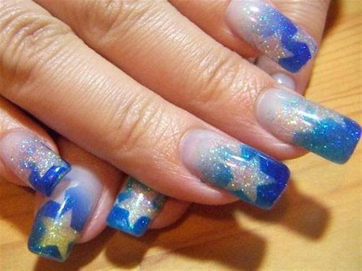 Blue Star Nails  Airbrush Nail Designs Image 1