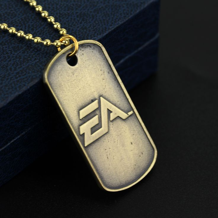 2 Colors Hot Game Battlefield 4 Dog Tag Military card Necklace BF4 Metal Alloy Pendant  Jewelry For Army Fans Souvenirs