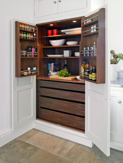 Contemporary Kitchen by Brayer Design. Really love this larder now.