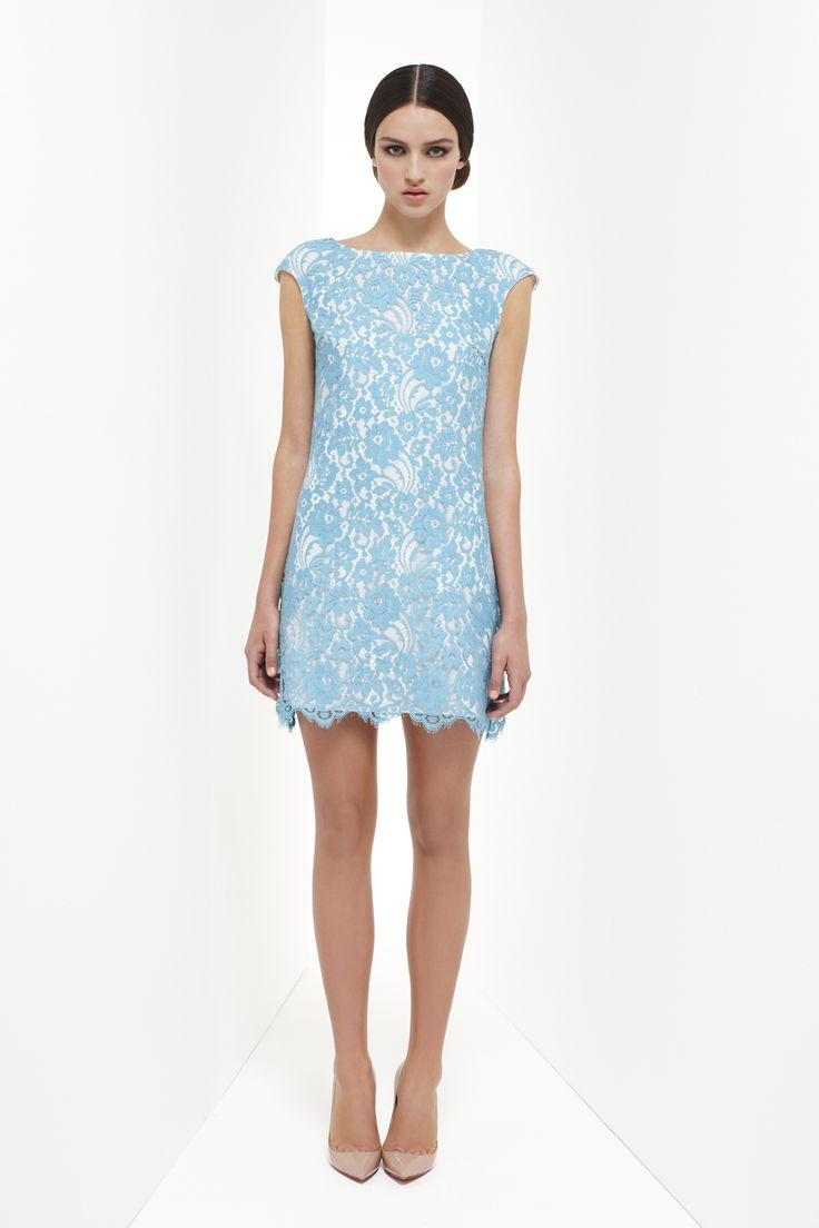 This pretty blue French lace is to die for. C'est bon!! Resort 2013 - Collette Dinnigan.