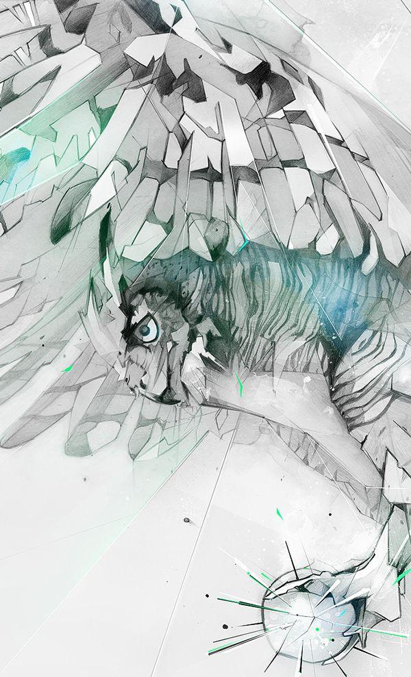 Great Horned Owl Illustration   Abduzeedo Design Inspiration