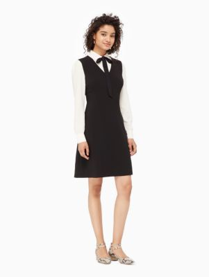 bow tie crepe a-line dress - Kate Spade New York