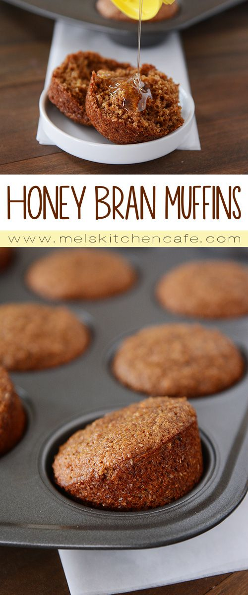 These whole grain honey bran muffins are packed with healthy ingredients, but still manage to be moist and delicious!