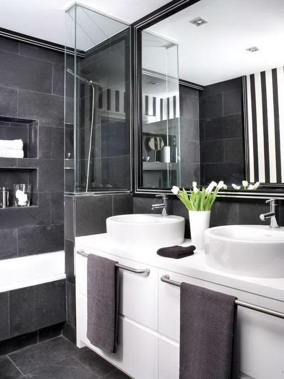 10 20mtrs Black Silver Slate Stone Effect Metallic Metal Look Wall U0026  Floor | Bathrooms