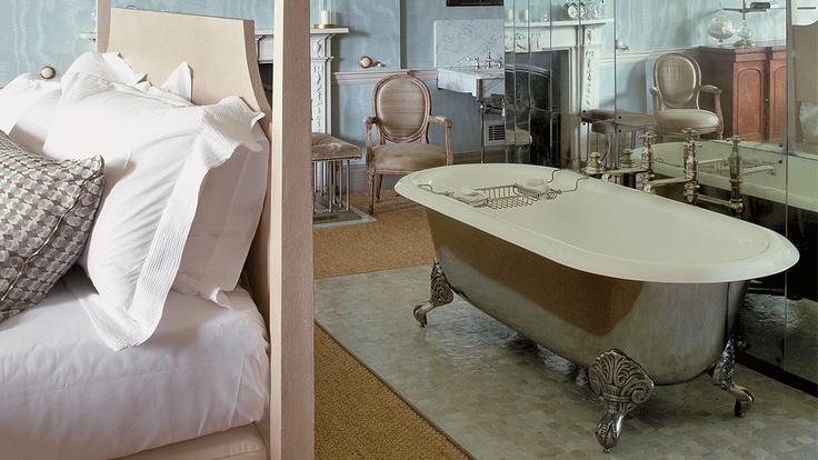 Babington House Bathroom, Somerset | Lifestyle Photography | Drummonds #BabingtonHouse #LifestylePhotography #Bathroom #Bedroom #BathTub