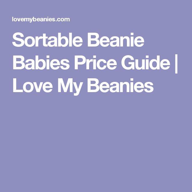 Sortable Beanie Babies Price Guide | Love My Beanies