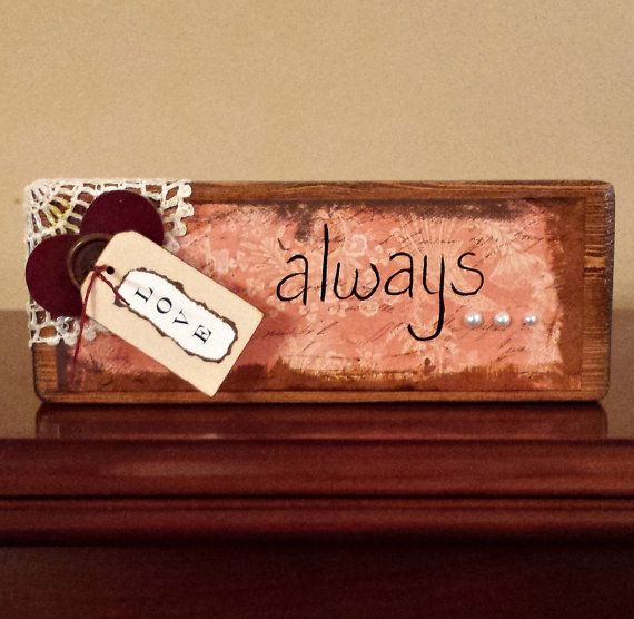 Love Always Wood Block  Handmade  Country by GypsyWindPrimitives