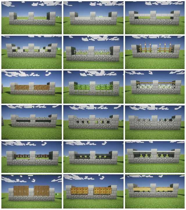 Minecraft Fence Design Minecraft Blueprints Minecraft City