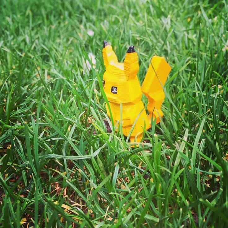 3d printed pikachu. Following the latest craze. X