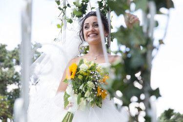 Zara | Sunflowers Bouquet | Beautiful wedding | Happy bride