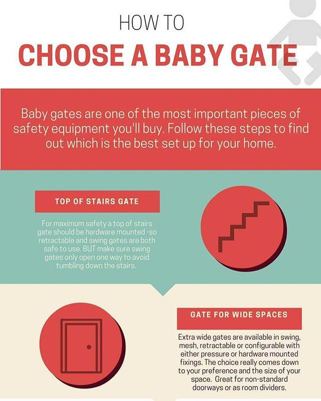 If you're looking for a baby gate but you don't know which type is right for you, follow the guide on our infographic - you can thank us later 👶🏼😍🏠 #babygate #babysafety #parenting #motherhood #fatherhood #babygear #toddlers #safetytips #safety #babyblog #baby #babytips #infographic #toddler #toddlerlife #pressuremountedgate #retractablebabygate