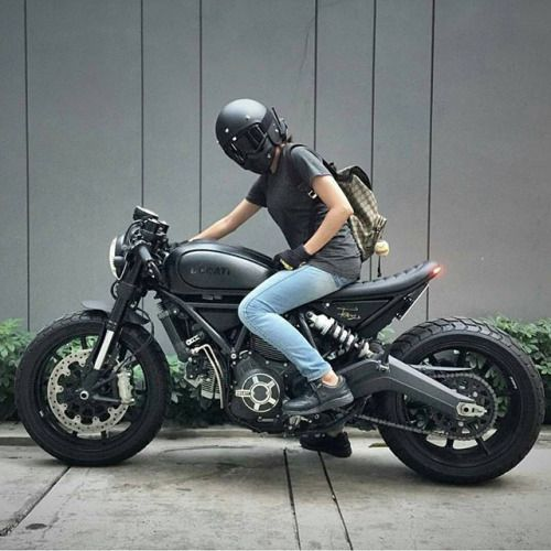 Biker girl on Ducati Streetfighter
