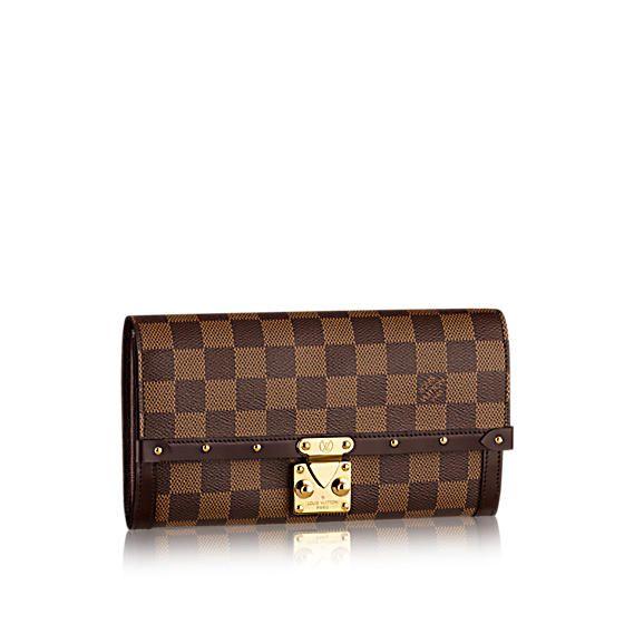 #N60535 Louis Vuitton 2015 Damier Ebene Venice wallet
