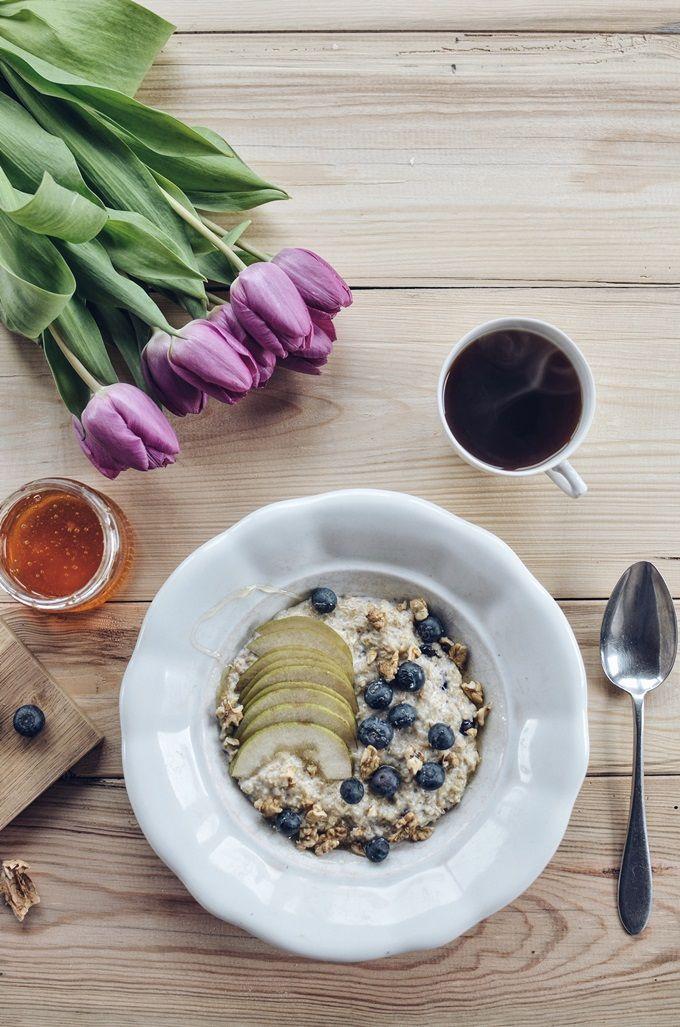 FoodLover: Ovesná kaše s hruškami a borůvkami