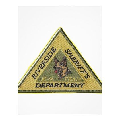 Riverside County Sheriff K-9 Letterhead - law gifts lawyer business diy cyo personalize