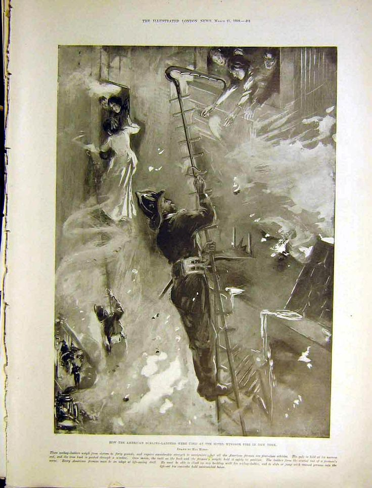 1899 Hotel Windsor Fire American Scaling Ladders Hurst