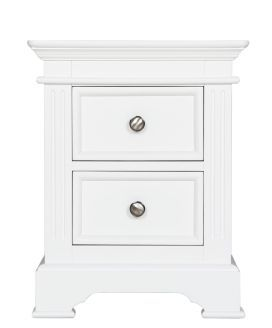Burford Antique White Painted Two Drawer Bedside Cabinet Beautiful Painted Furniture Available to purchase from  www.uniquechicfurniture.co.uk  0115 9869222