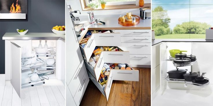 Szafki narożne  wyposażenie  Kuchnia nasza  Pinterest -> Szafka Rogowa Kuchnia Wymiary