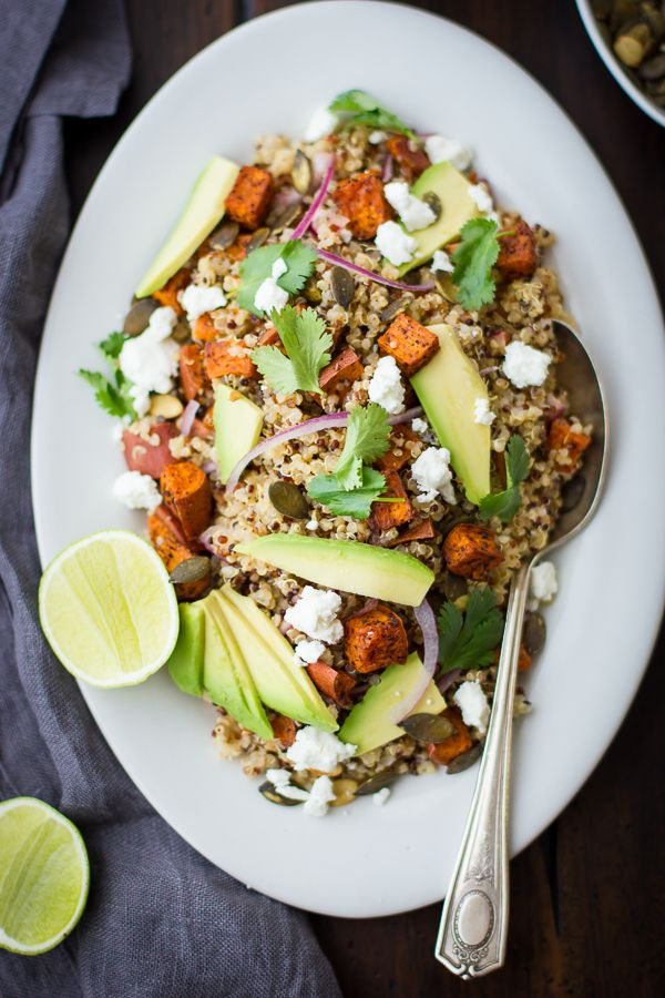 Roasted Sweet Potato and Quinoa Salad with Chile and Lime // Bojong Gourmet