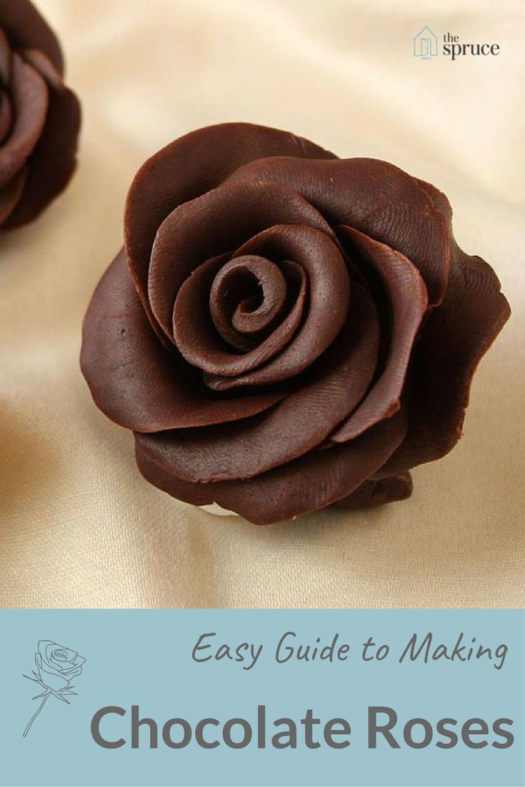 Chocolate roses are a lot easier to make than you'd think! Add to a wedding cake or make 'em for your sweetie for Valentine's Day!