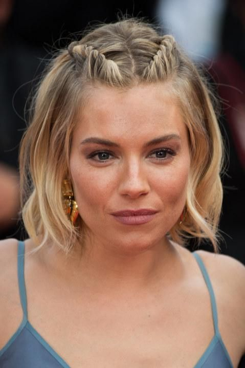 Best in braids! Try out these knotted and twisted hair-dos for homecoming—Sienna Miller