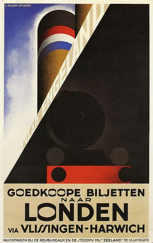 Londen by A.M. Cassandre, 1928 http://www.flickr.com/photos/27862259@N02/6542707295/