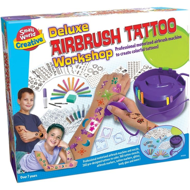 Small World Toys Deluxe Airbrush Tattoo Workshop-