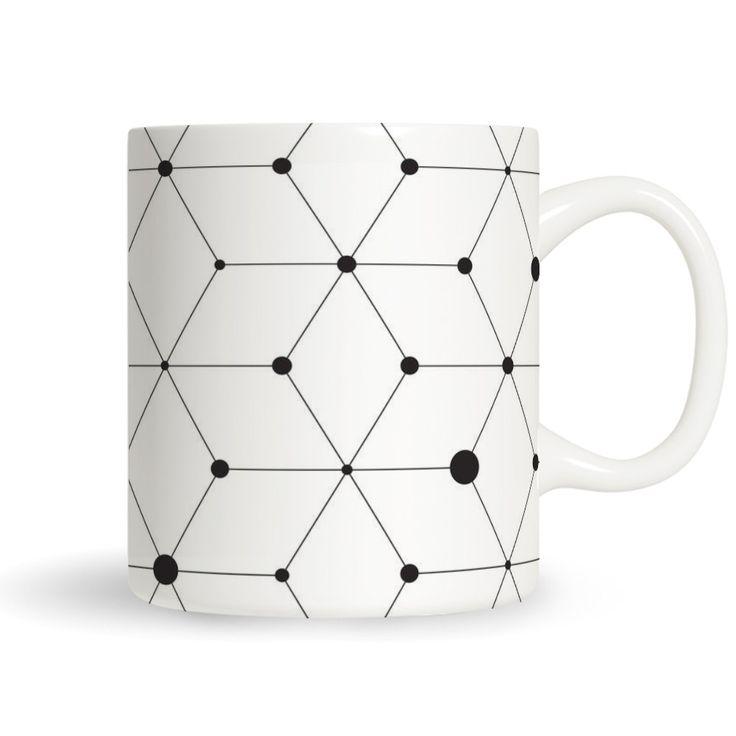 Skandinavisches Design #HelloSunday #Tassen #Schlicht #Netz #Muster #Tasse  #Skandi