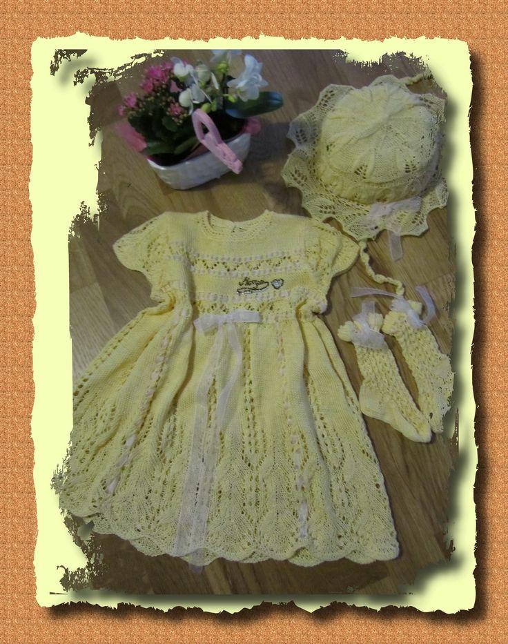 Tre pezzi giallo di cottone