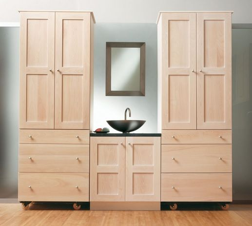 Simple unfinished bathroom vanities and cabinets with simple framed mirror - Best 25+ Unfinished Bathroom Vanities Ideas On Pinterest