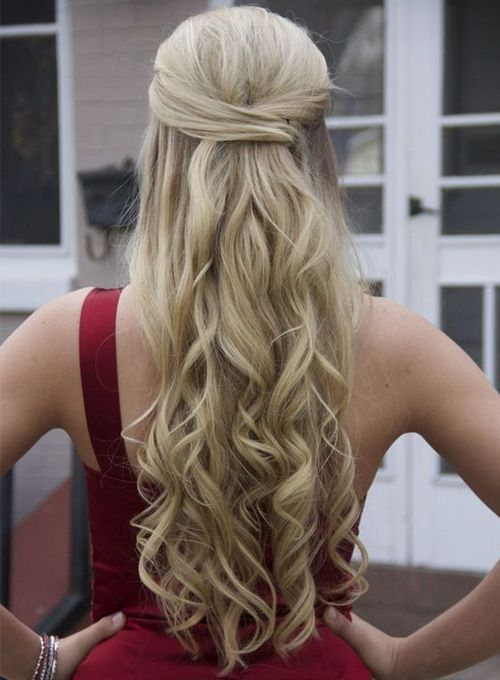 Half Up Half Down Long Formal Hairstyles 2017