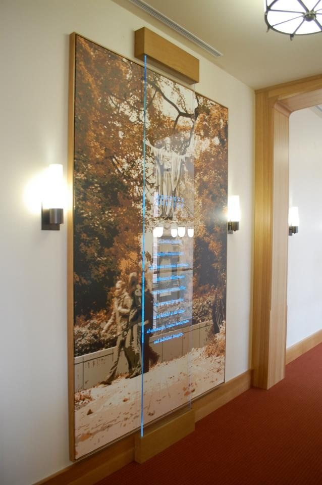 Mission Statement, Art Canvas, Photo Conversion to Vector Art, Statue Art, Etched Glass, Illuminated Glass, Theming, Exhibit Panel.