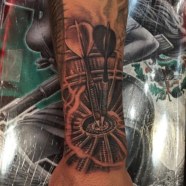 Dart Board Tattoo by the owner of Heaven's Ink Tattoo ...