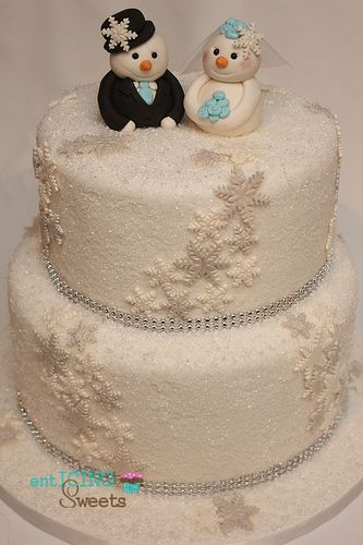Winter Wonderland Bridal Shower Cake