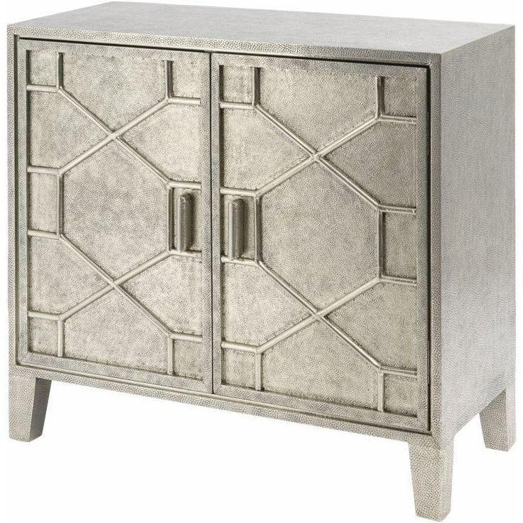 contemporary metal furniture. hammered metal clad 2 door cabinet contemporary cabinetscontemporary furnituremodern furniture